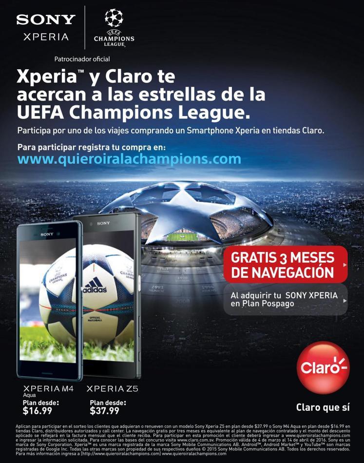 CLARO y Sony XPERIA te llevan a ver un partido de la champion league 2016