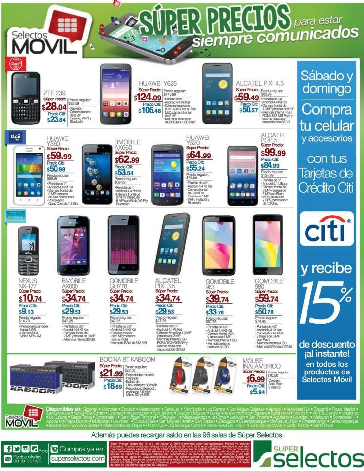 Compra tu celular nuevos en SeleCtOS movil promociones de fin de semana