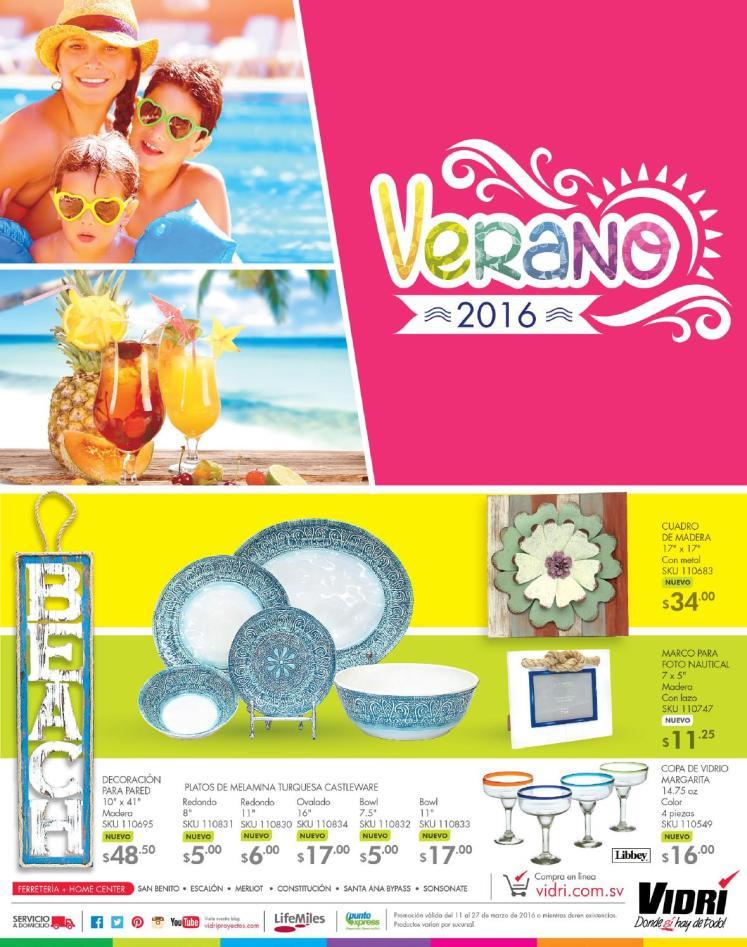 Guia de ofertas Ferreteria VIDRI el salvador semana santa 2016