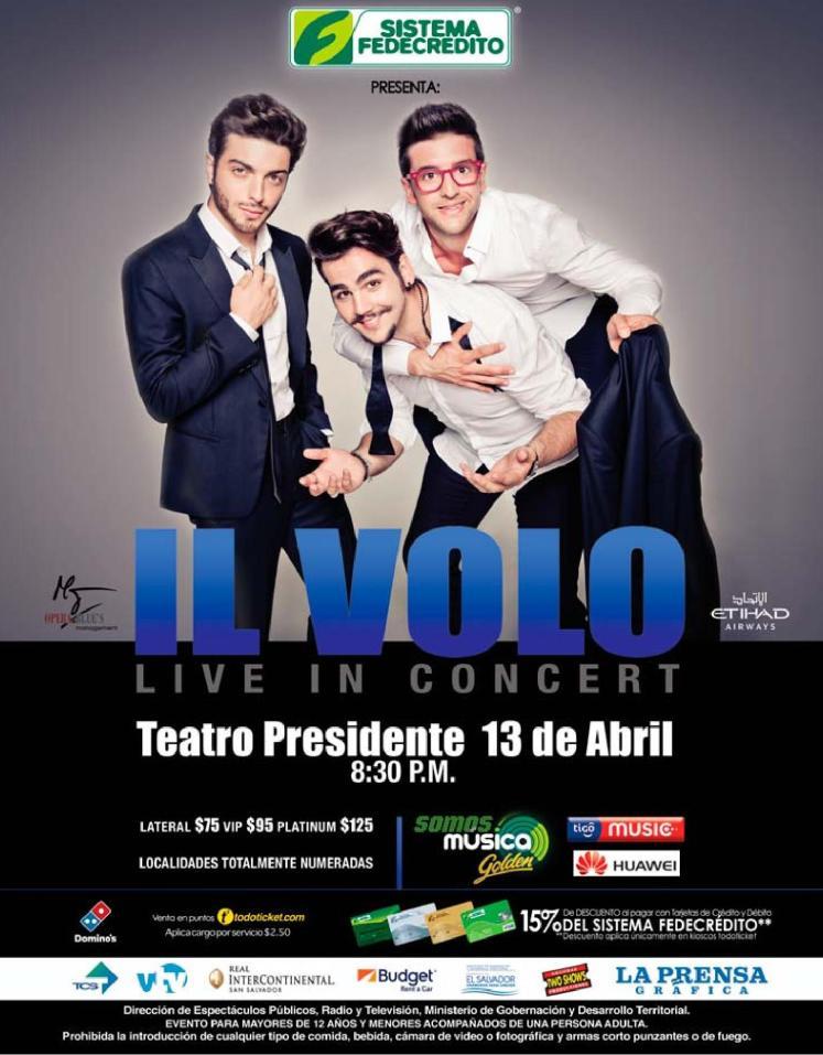 IL VOLO live in concert el salvador 2016