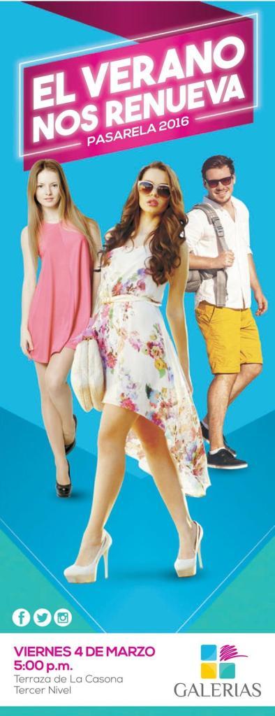 Passarela de moda de verano 2016 en centro comercial galerias