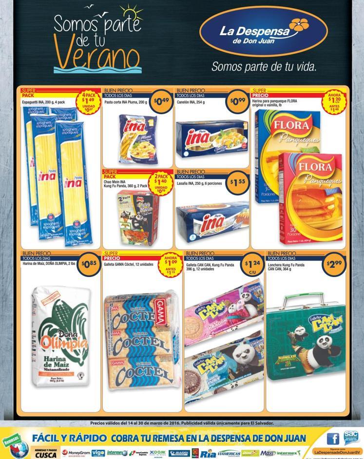 Pastas y galletas con precios bajo en la despensa - 14mar16