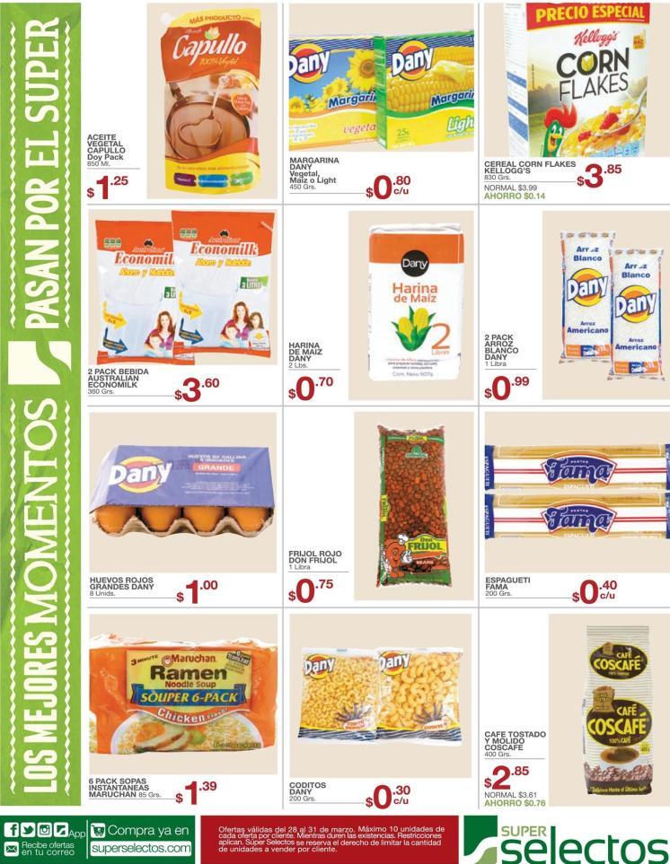 Productos de la canasta basicas siempre en ofertas - 28mar16