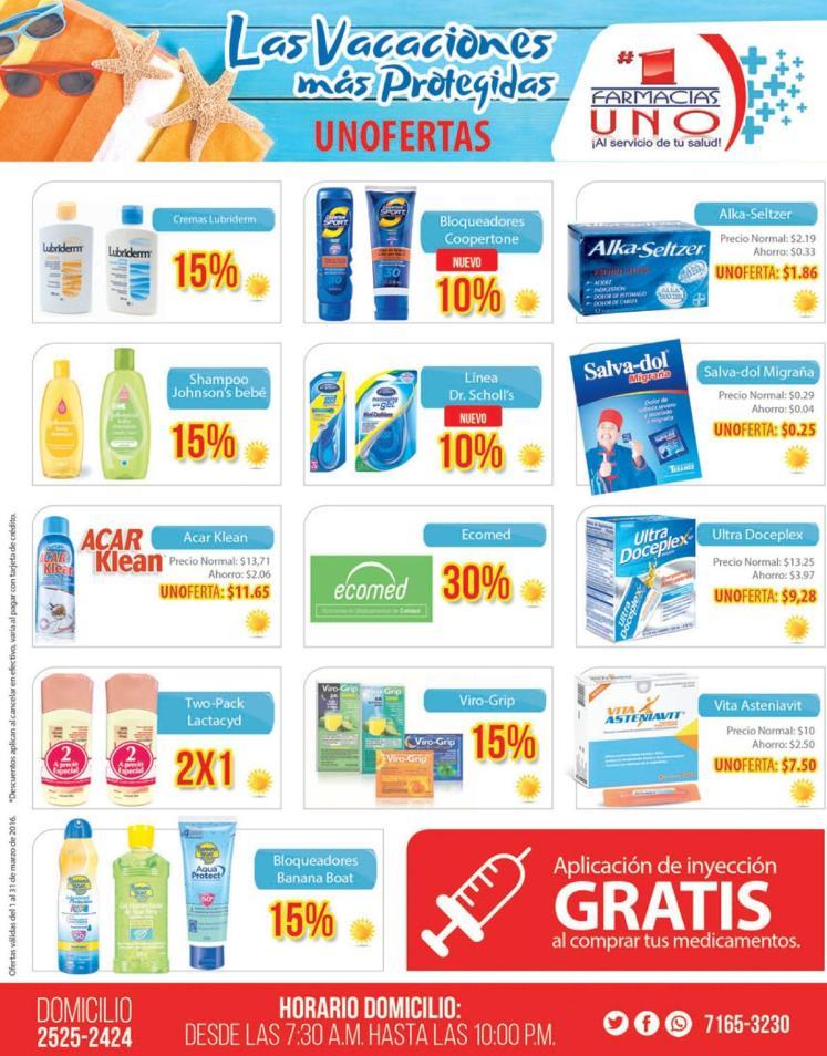 Protege a tu familia en semana santa OFERTAS farmacias uno