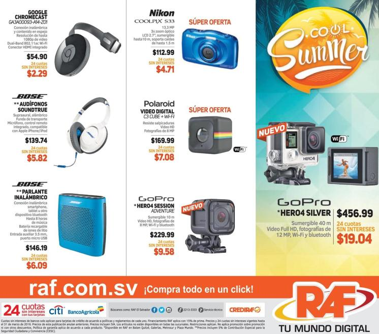 RAF sool summer gadgets speakers chrome cast cameras