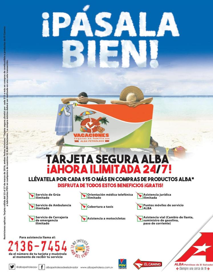 Tarjeta segura ALBA security service for all family