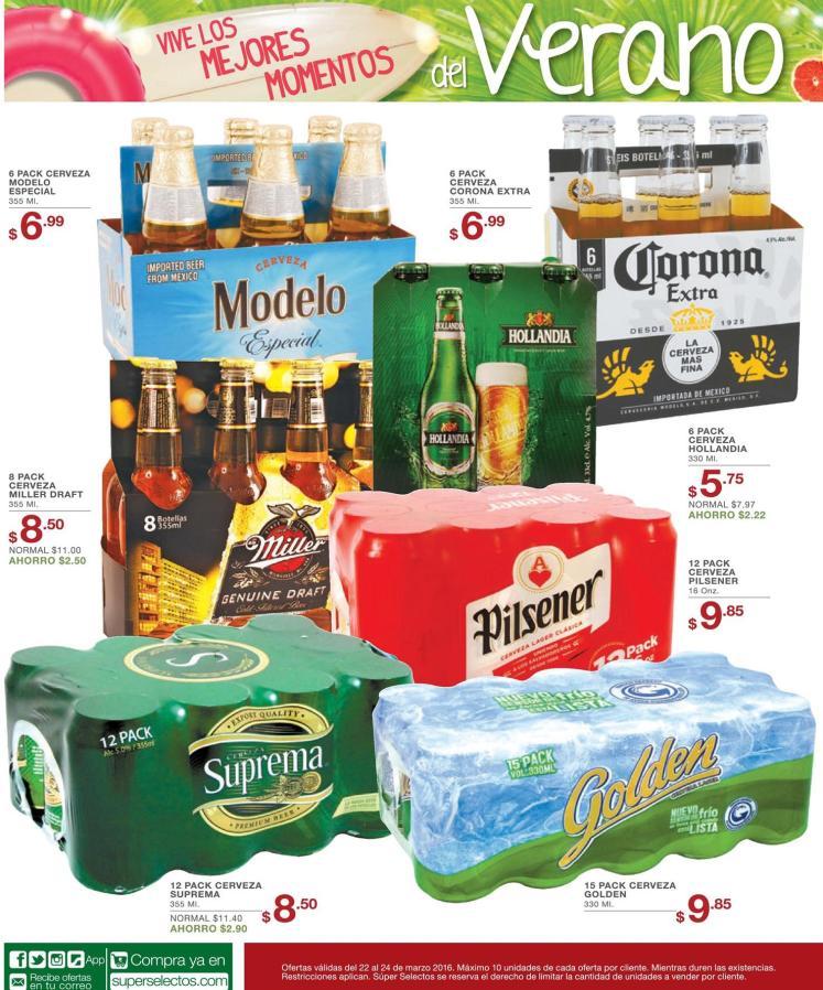 Todos los SIX PACK de cervezas en promociones - 22mar16