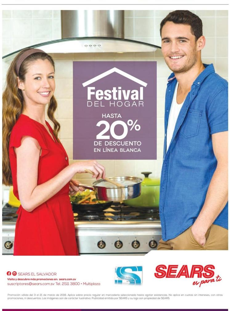 festival de hogar 20 off electrodomesticos SEARS - 04mar16