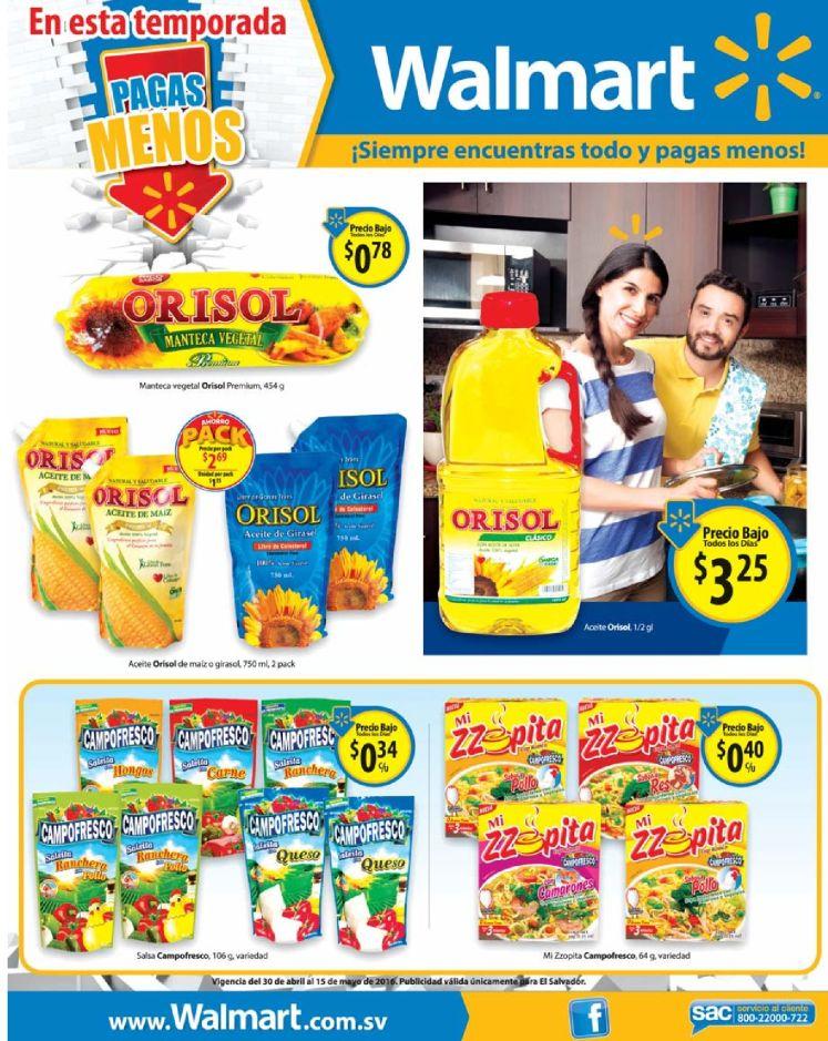 Mas productos rebajados en supermercado WALMART - 30abr16