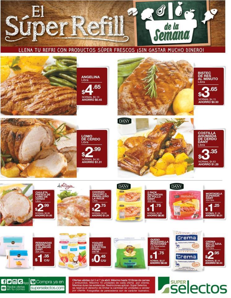 SUPER refill de la semana en carnes embutidos y lacteos - 05abr16