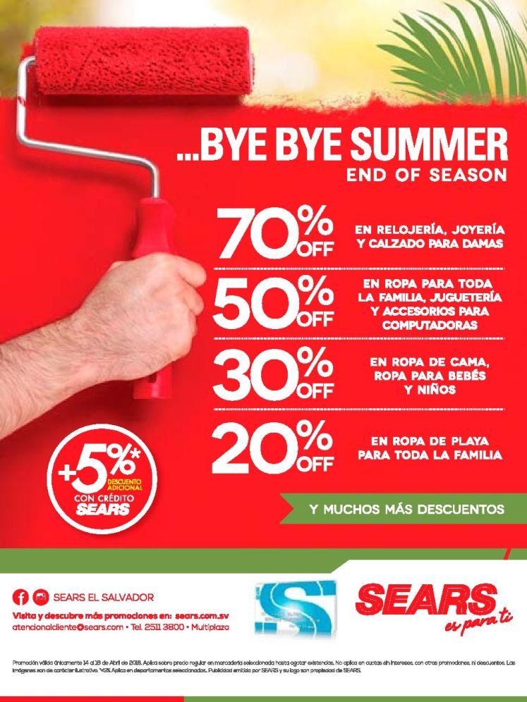 Summer end of season DESCUENTOS SEARS en todo el almacen - 15abr16