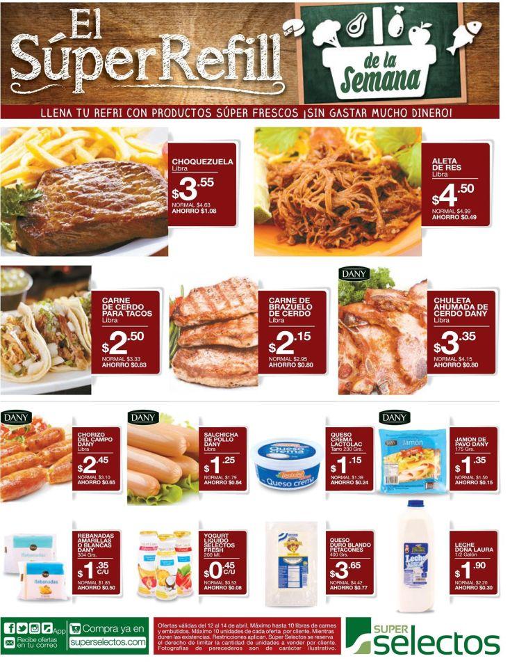 Super Selectos ofertas de la semana con super refill - 12abr16