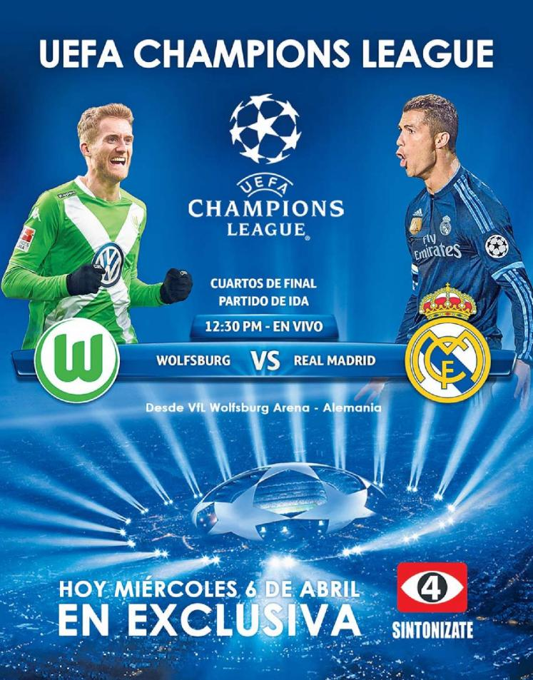 WOLFSBURG vs Real Madrid - FREE - Today uefa champions league match
