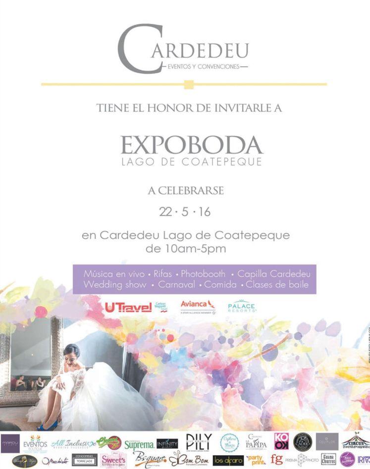 CARDEDEU eventos y convenciones EXPO BODA 2016 lago de coatepeque