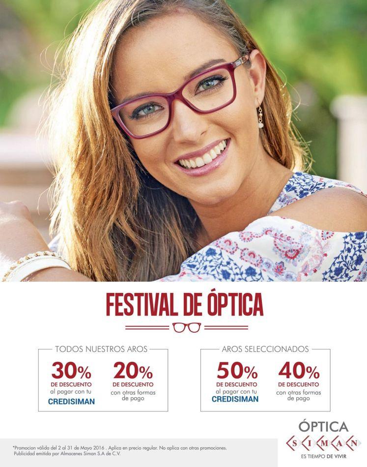 Festival de Optica para los nuevos lentes de tu mami en SIMAN
