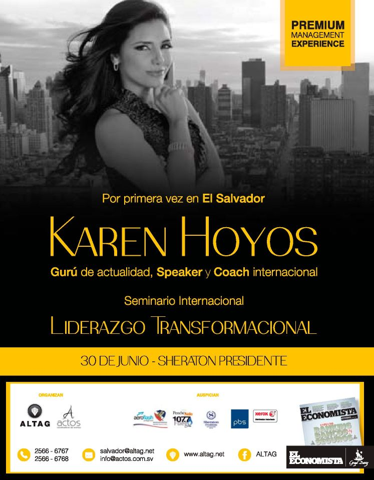 Karen Hoyos COACHING liderazgo transformacional el salvador 2016