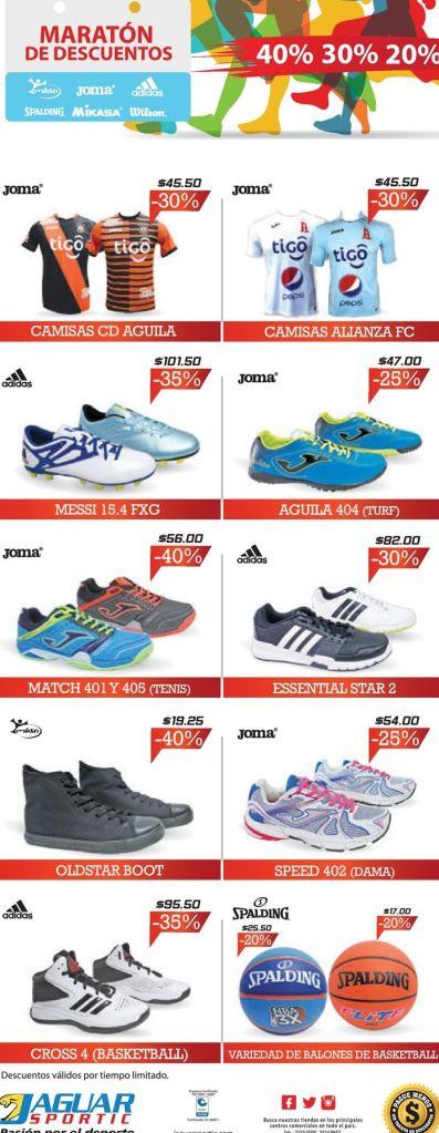 Maraton de edscuentos deportivos en tiendas jaguar sportic - 30may16
