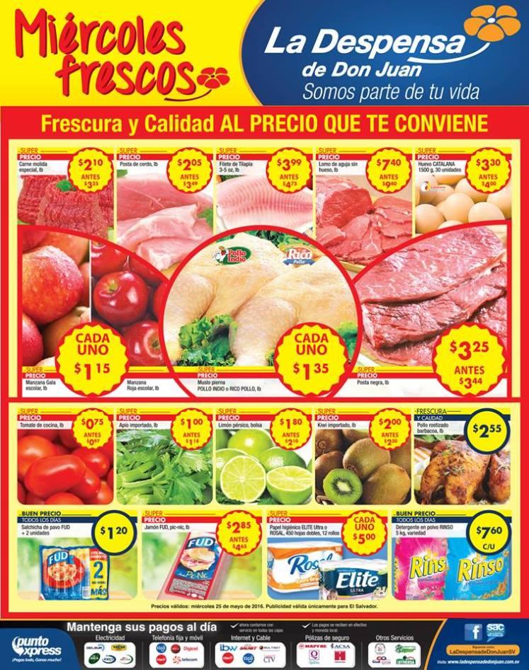 Ofertas de miercoles supermercado la depensa - 25may16