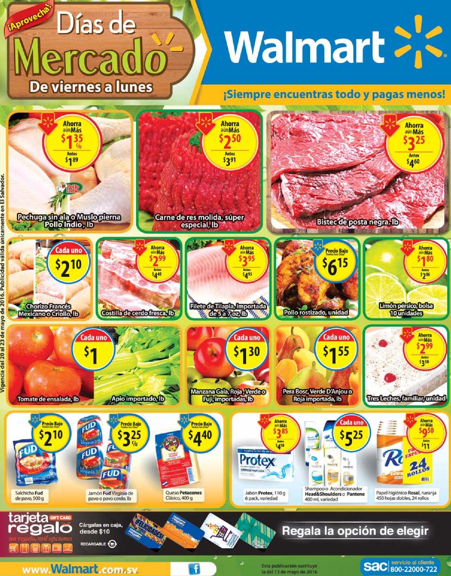Regalate buenos precios en WALMART supermercados - 20may16