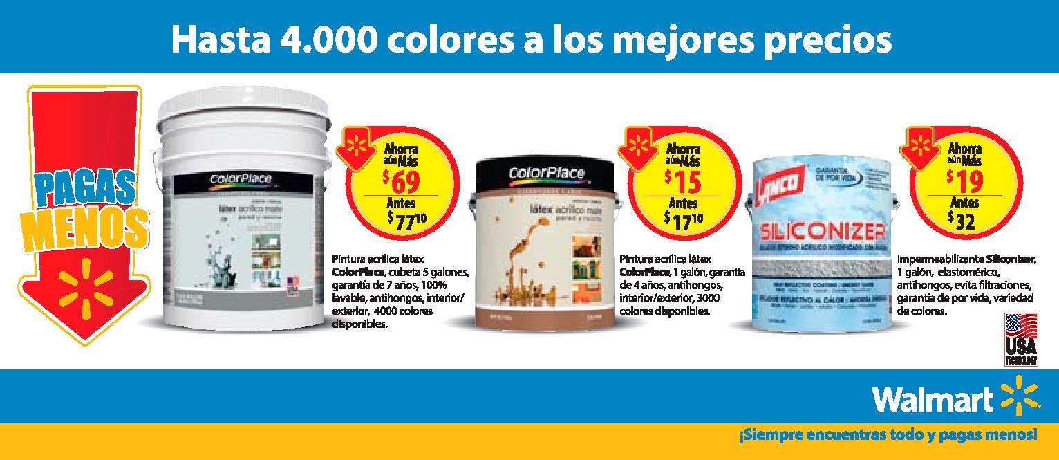 WALMART pinturas Hasta 4000 mil colores donde escoger y buen precio