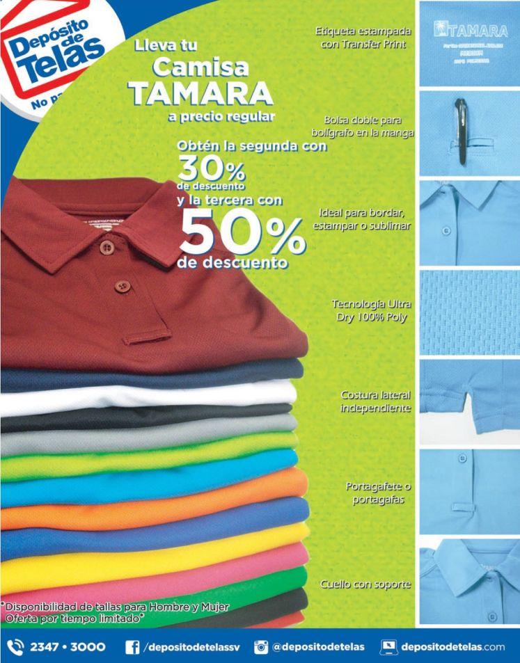 Camisas tipo polo marca TAMARA con 50 OFF de descuento