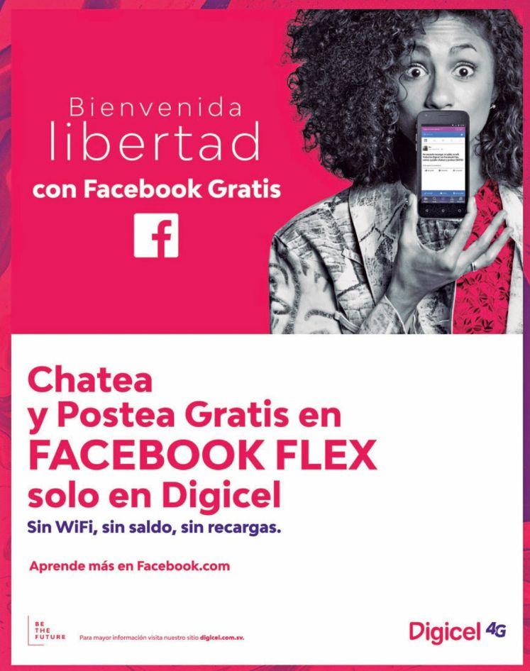 DIGICEL - Libertad es chatear y publicar en facebook flex