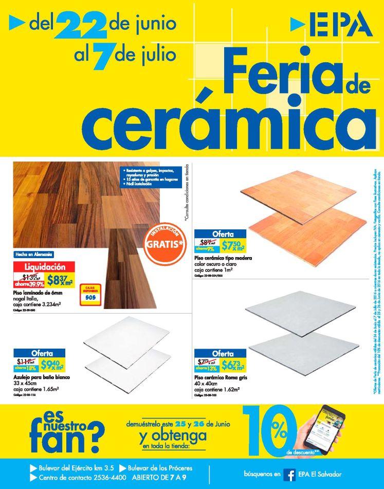 FERIA de Ceramica en Ferreteria EPA descuento por ser nuestro FAN