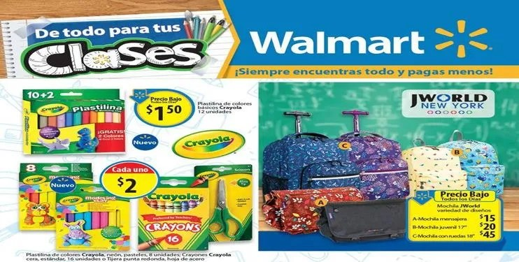 WALMART Back to School products and accesories (Jun-Jul-Ago-2016)