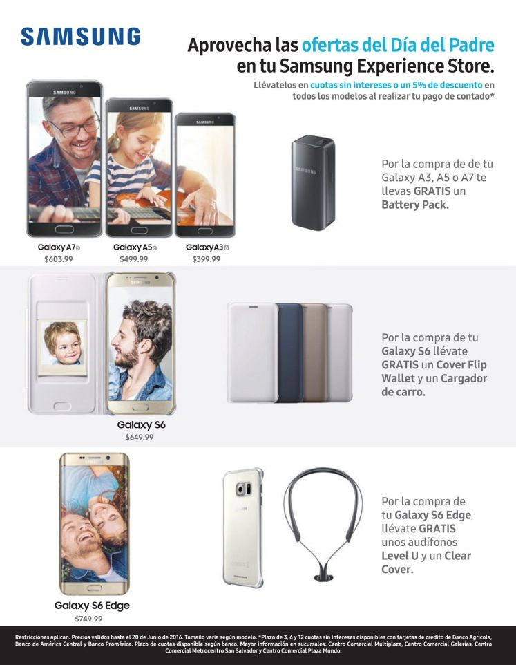 SAMSUNG store experience deals for fathers day