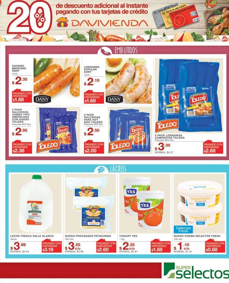 Chorizos SALCHICAS lacteos super selectos descuentos - 06jul16