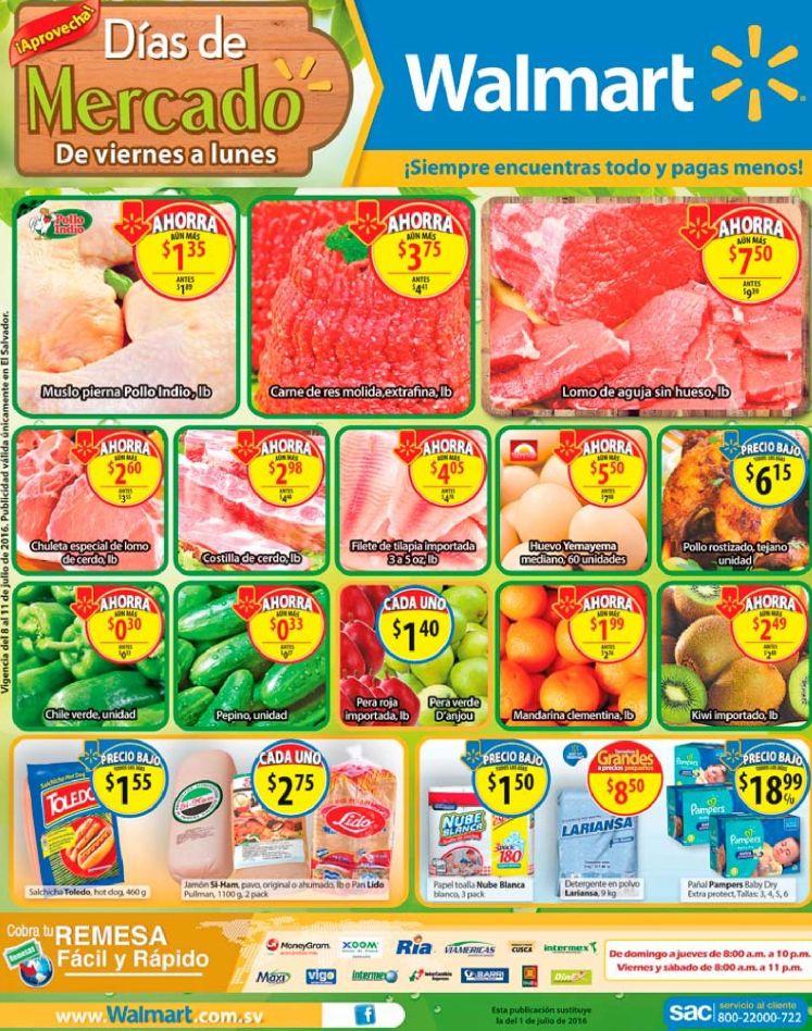 FIN DE SEMANA descuentos en frutas y verduras WAL MART