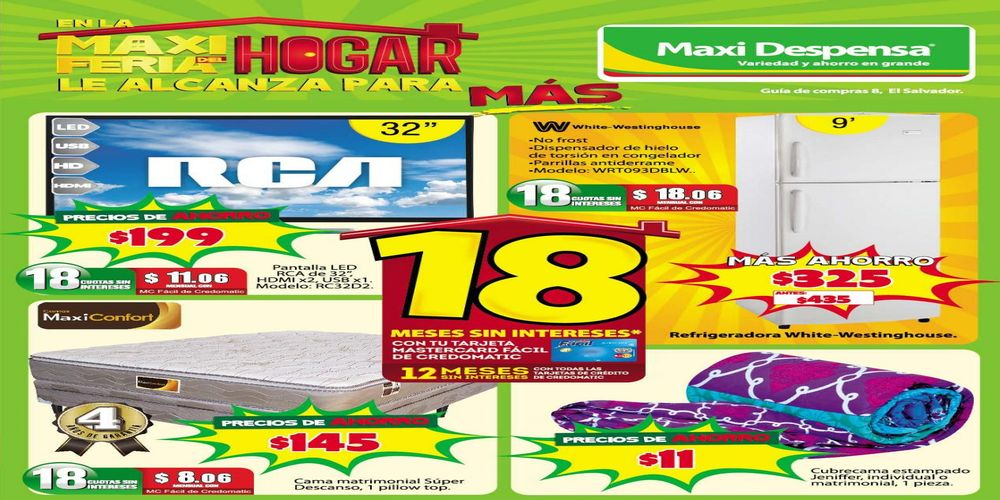 MAXI Despensa feria del hogar disponible para Agosto 2016
