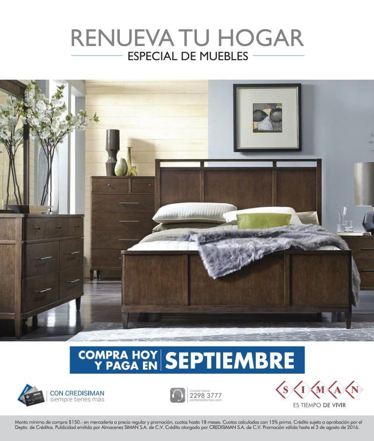 Revista renueva tu hogar SIMAN especial de muebles 2016