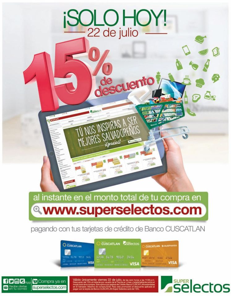 SOLO HOY online disocunts FRIDAY super selectos