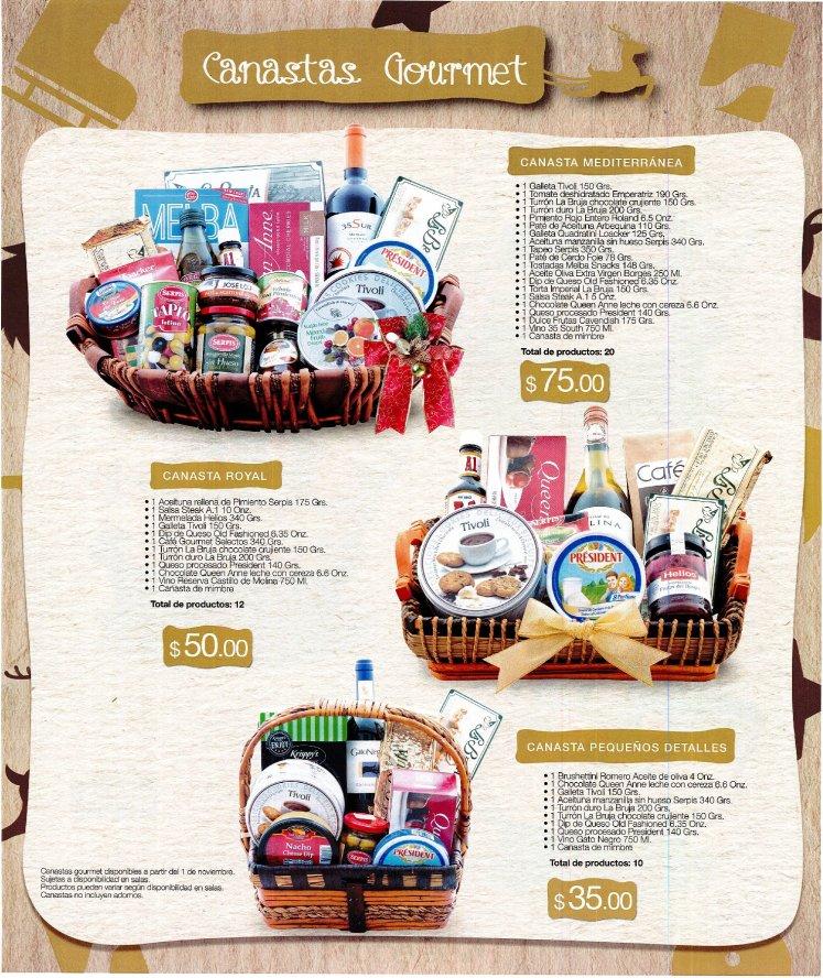 ofertas de Temporada de navidad CANASTAS GOURMET