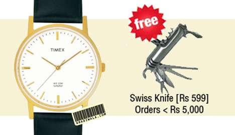 Timex Classic A300 Men's Wrist Watch at Rs.645 + Free Swiss Knife of worth Rs.599 offers