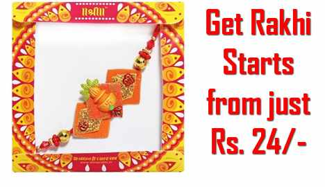 Send or Buy Rakhi From Just Rs. 24 Only (Free Shipping & Cash on Delivery) offers featured discount 2