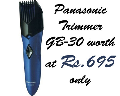 Panasonic Trimmer GB 30 worth Rs.995 at Rs.695 only appliances