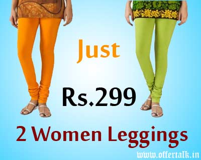 Get 2 Women Bottomwear Leggings at Just Rs.299 Only womens apparel