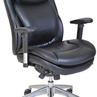 Serta 45026 Wellness by Design Air Commercial Series-200 Task Puresoft Faux Leather Chair, Black