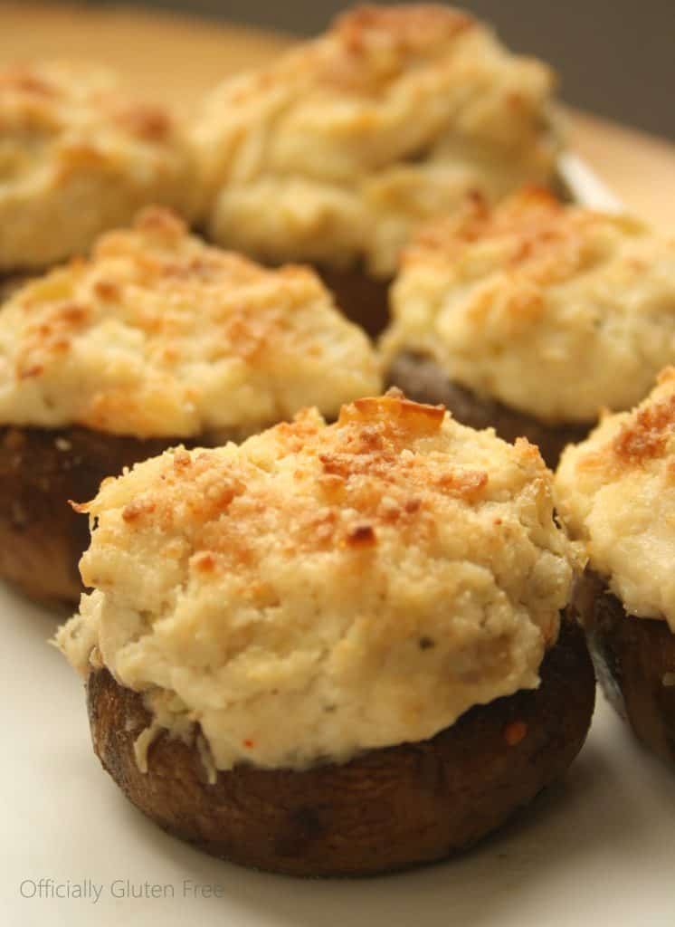 Crab Stuffed Mushrooms - Gluten Free - Officially Gluten Free