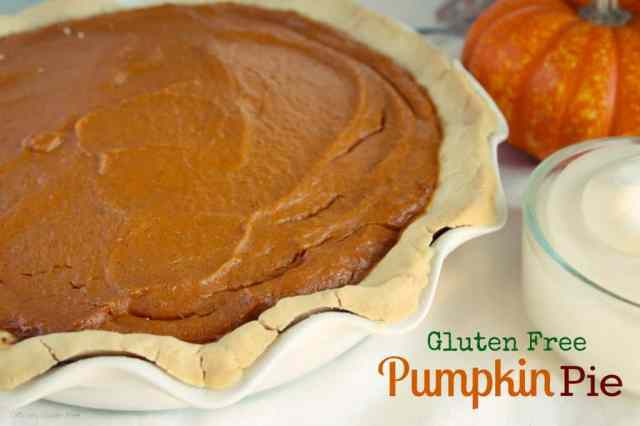 Gluten Free Pumpkin Pie - Officially Gluten Free