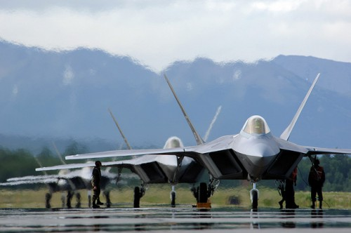 F-22s. Lockheed photo.
