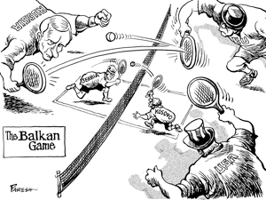 Balkan Game (Cartoon by Paresh Nath)