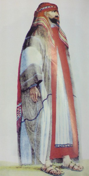 A painting of Abdullah bin Saud, convicted and executed after losing the war in September 1818.