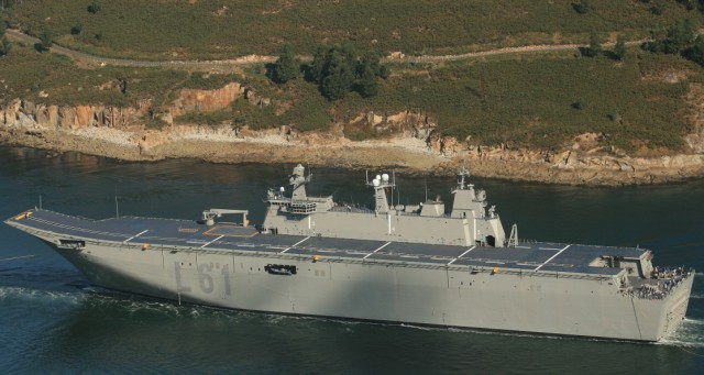 The Canberra-class LHD will have the same design as Spanish ship Juan Carlos I (L61) (displayed on the photo above). The Spain shipbuilder Navantia is responsible for construction of the ships from the keel to the flight deck, after which the hulls will be transported to Australia for completion by BAE Systems Australia.