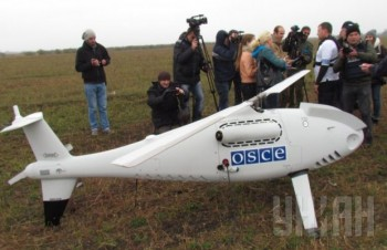 The OSCE uses drones - Austrian-made Schiebel Camcopter S-100s - to monitor the Ukrainian-Russian border.