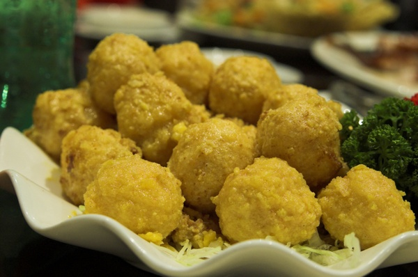 Deep Fried Golden Prawn Balls