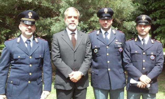 Tre poliziotti tortonesi premiati dalla Questura, sono Arbusti, Rolandi e Stefanelli