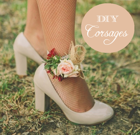 DIY wedding corsages for your bridesmaids in lieu of bouquets
